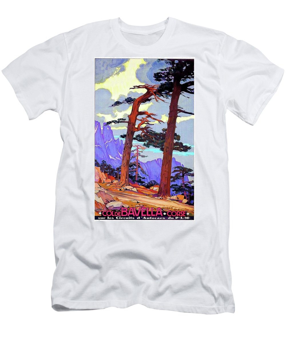 Bavella Men's T-Shirt (Athletic Fit) featuring the painting Bavella, Corsica, France by Long Shot