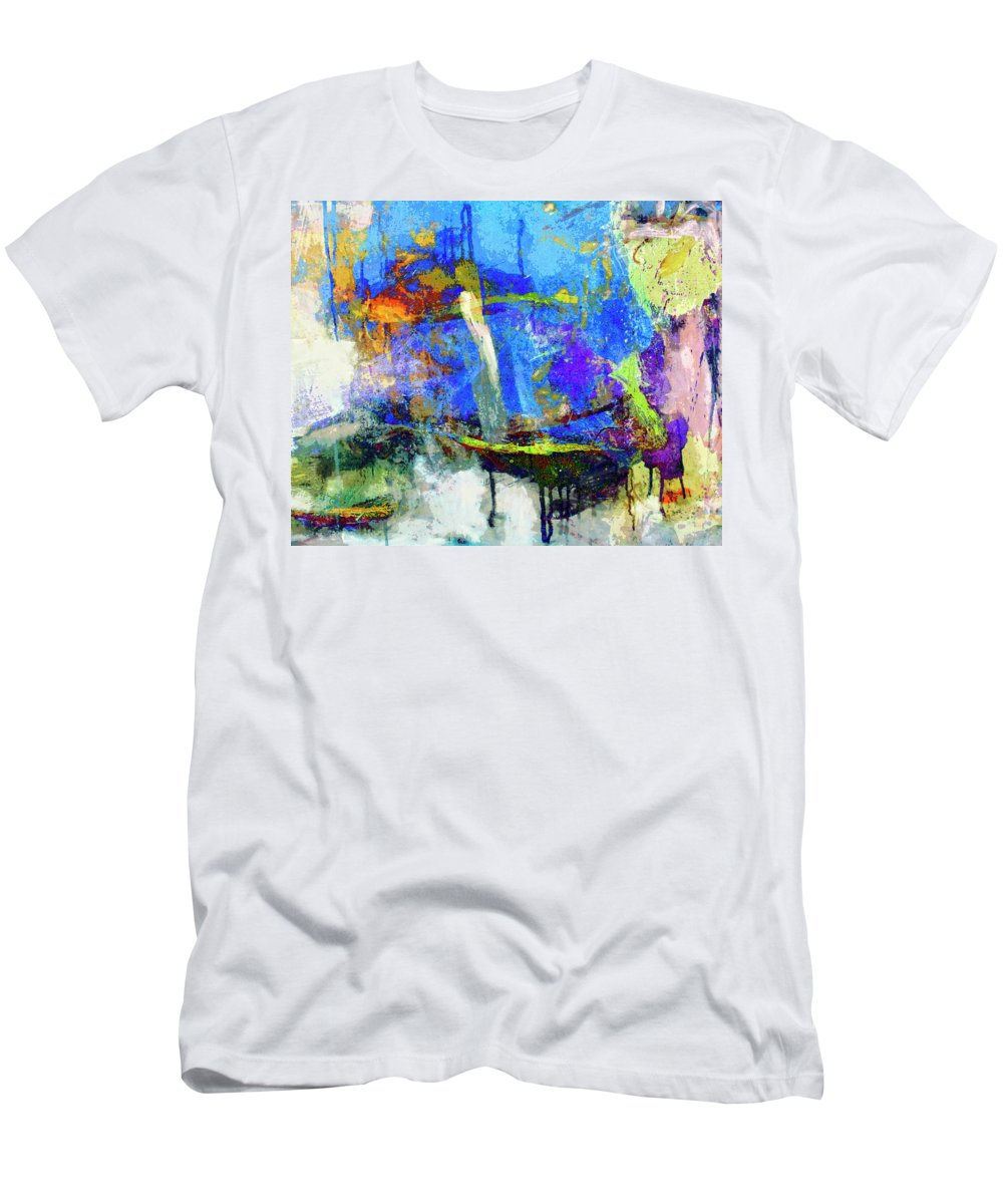 Abstraction Men's T-Shirt (Athletic Fit) featuring the painting Bayou Teche by Dominic Piperata