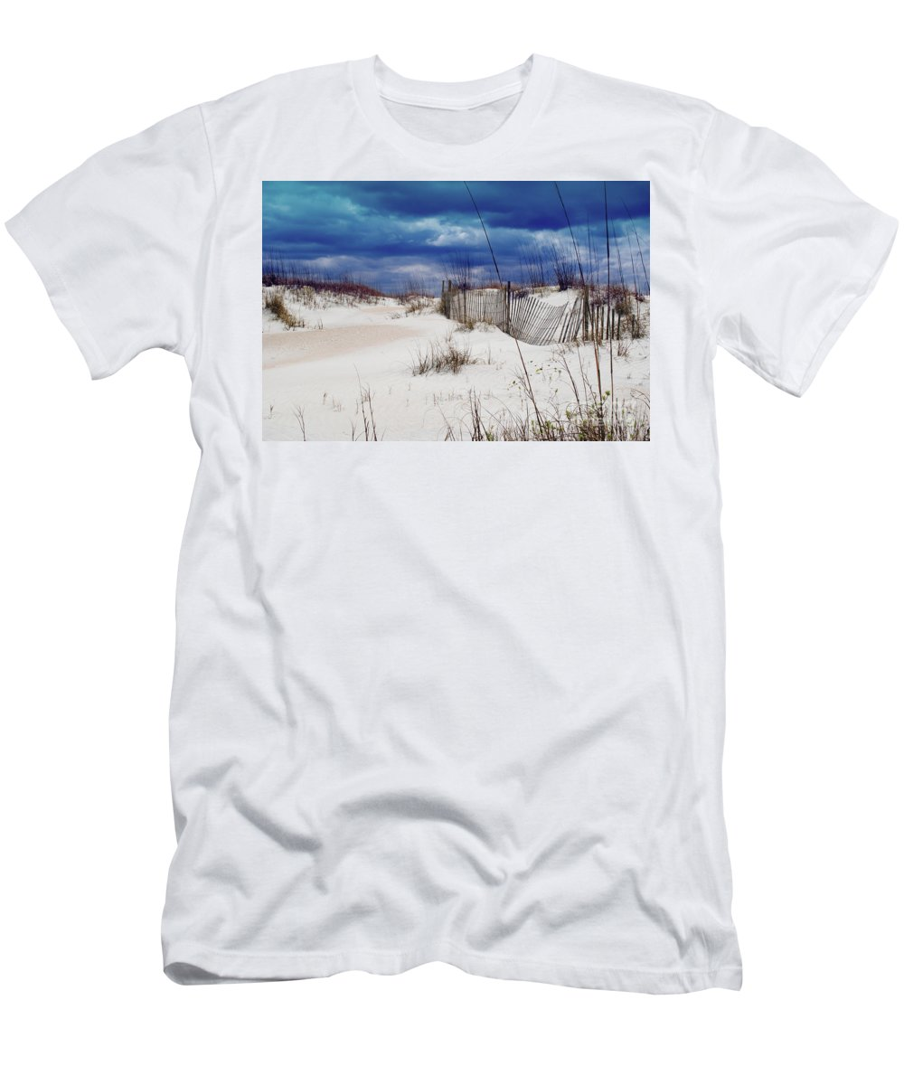 Beach Men's T-Shirt (Athletic Fit) featuring the photograph Beach Storm by Jost Houk
