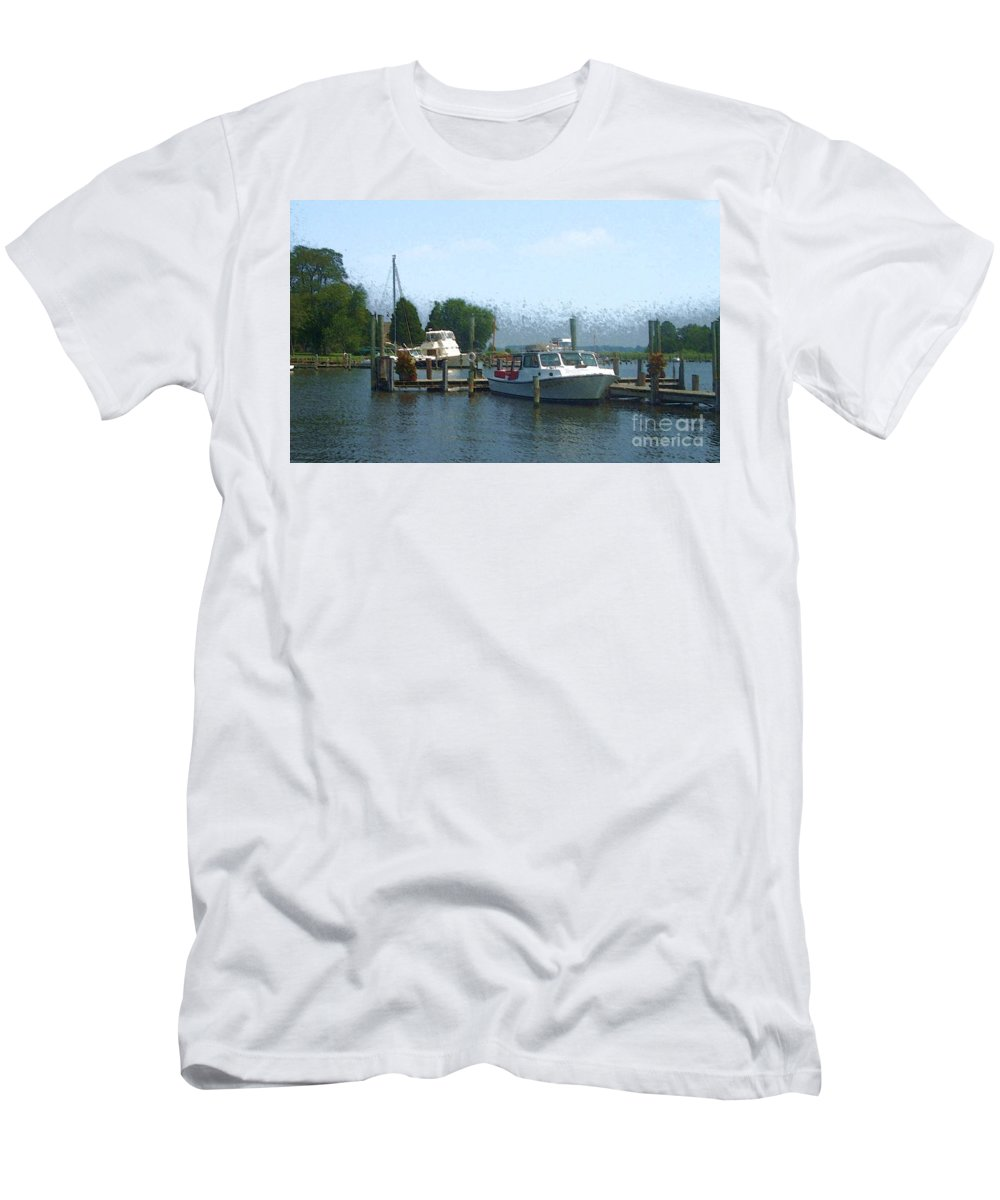 Boat Men's T-Shirt (Athletic Fit) featuring the photograph Beached Buoys by Debbi Granruth