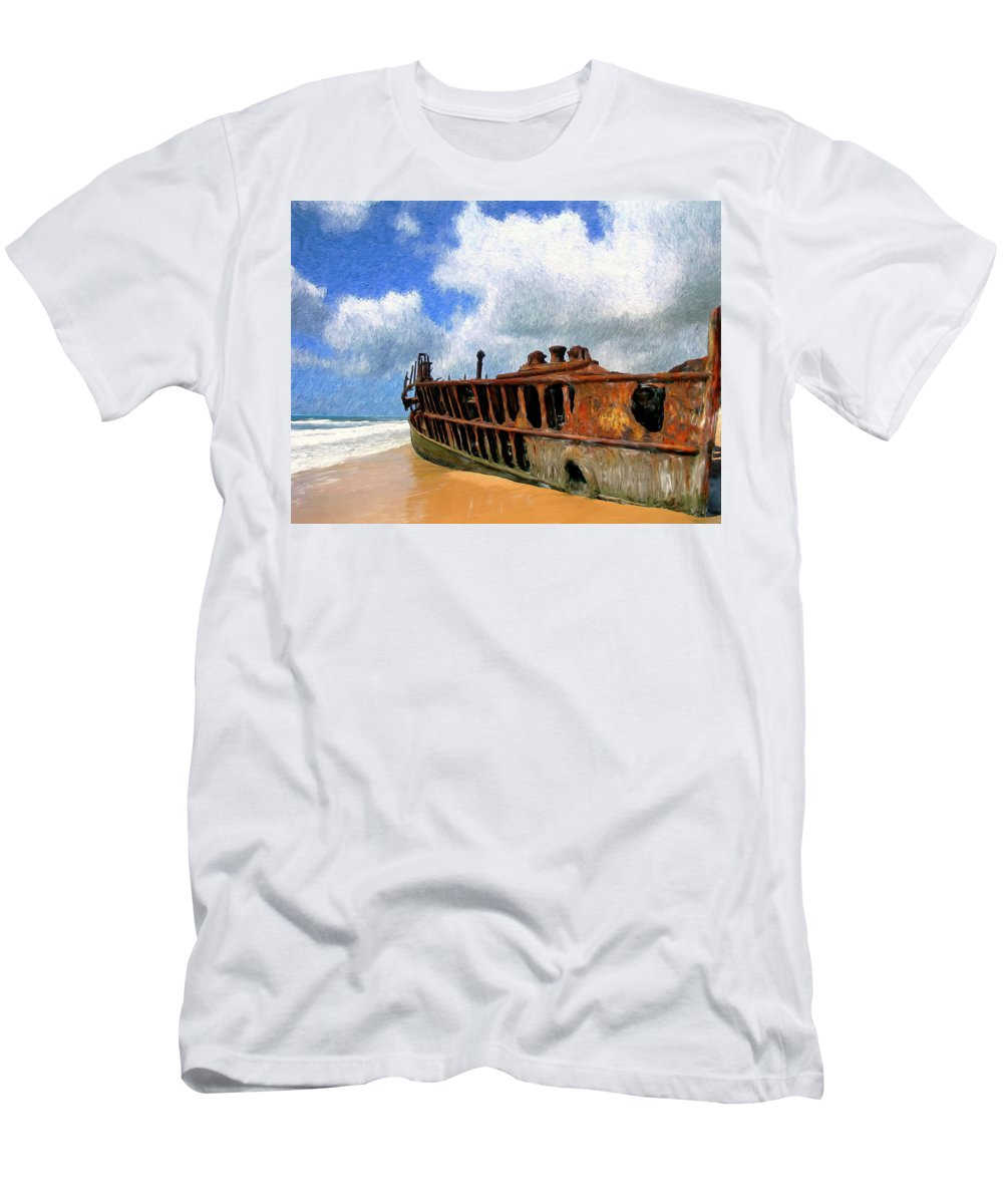 Beach Men's T-Shirt (Athletic Fit) featuring the painting Beached by Dominic Piperata