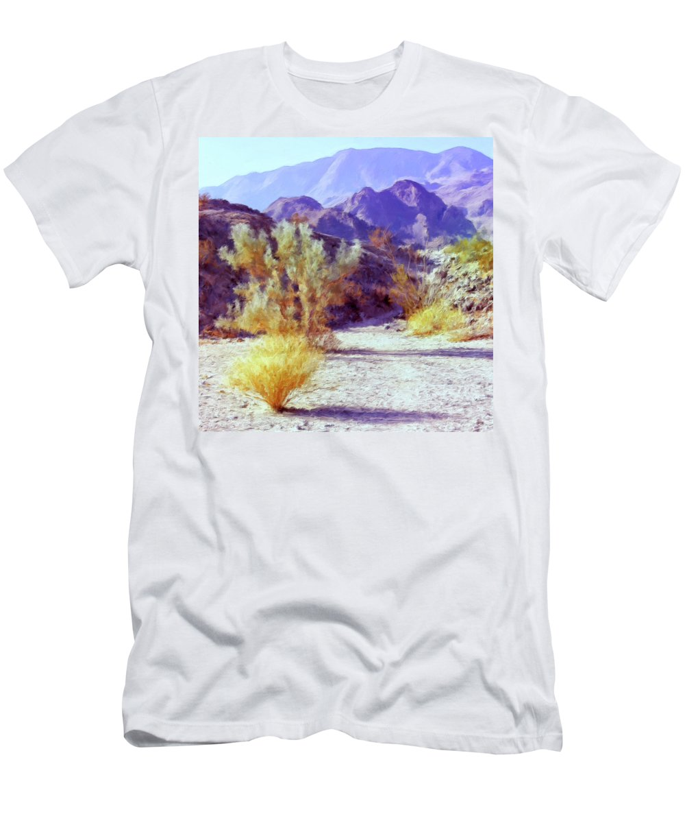 Desert Men's T-Shirt (Athletic Fit) featuring the painting Bear Creek Trail by Dominic Piperata
