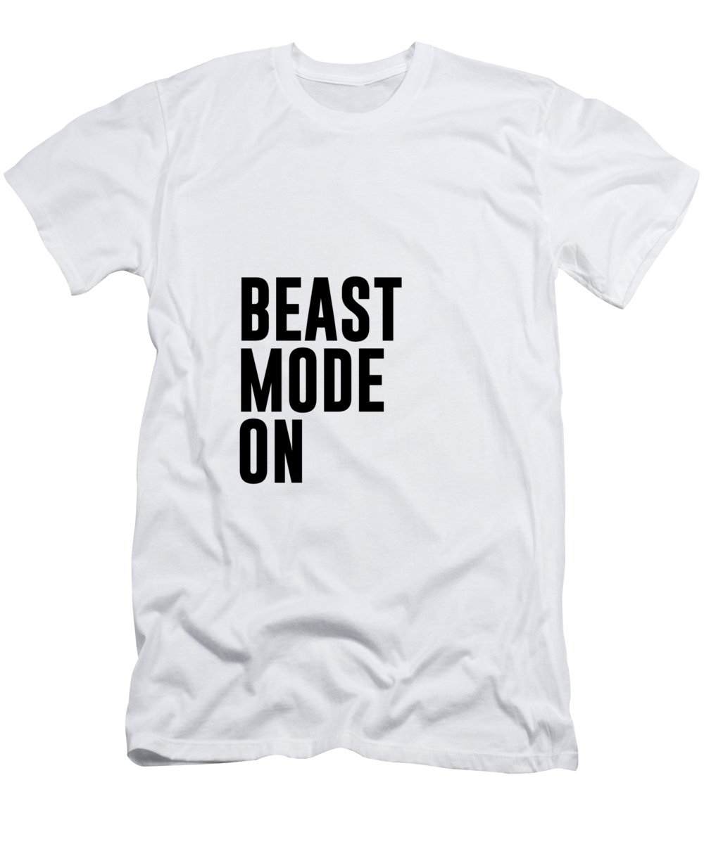 02951f998aa Workout Men s T-Shirt (Athletic Fit) featuring the mixed media Beast Mode On