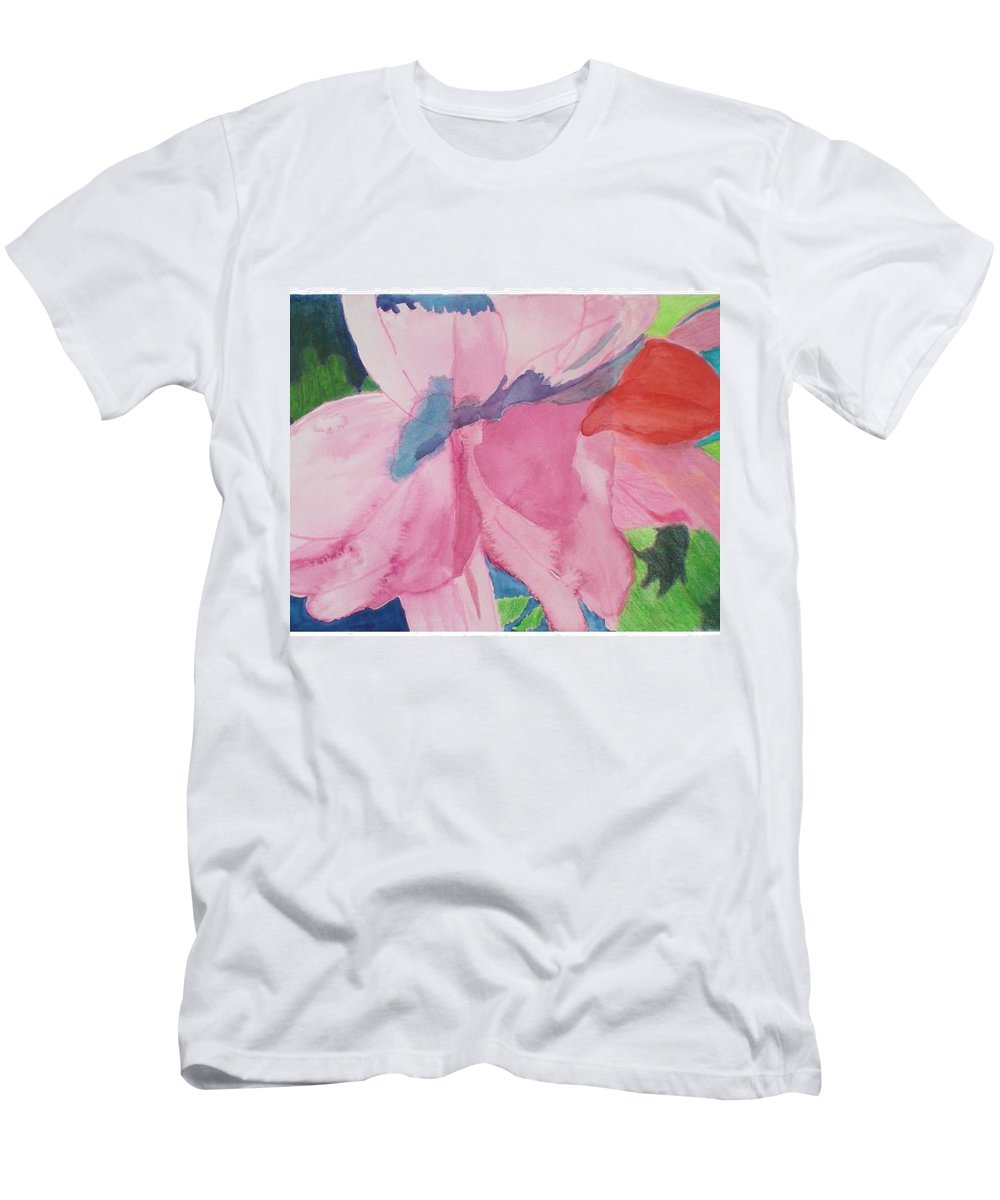 Flower Men's T-Shirt (Athletic Fit) featuring the painting Beautiful Azalea by Hal Newhouser