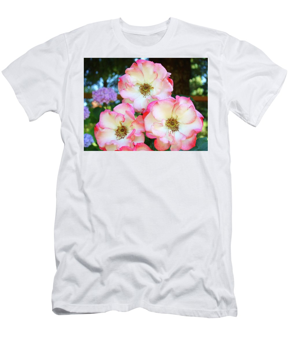Rose T-Shirt featuring the photograph Beautiful Floral Roses Garden art prints Baslee Troutman by Patti Baslee