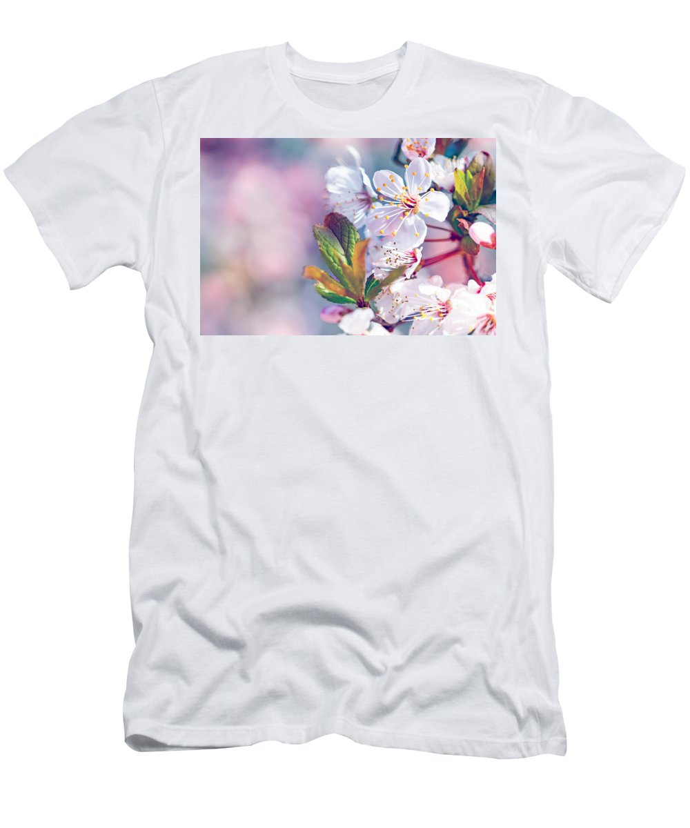 Agriculture Men's T-Shirt (Athletic Fit) featuring the photograph Beautiful Fruit Tree Blooming by Anna Om