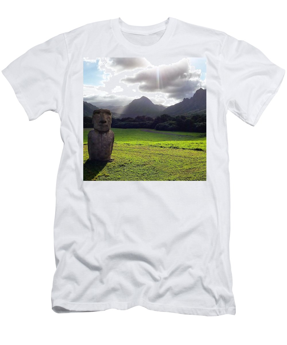 Landscape Men's T-Shirt (Athletic Fit) featuring the photograph Beautiful Hawaii by Michael Maimone