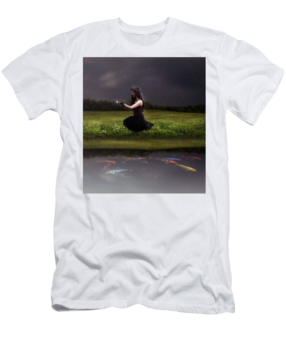 Men's T-Shirt (Athletic Fit) featuring the digital art Beautiful Nature by Nicole Hernandez