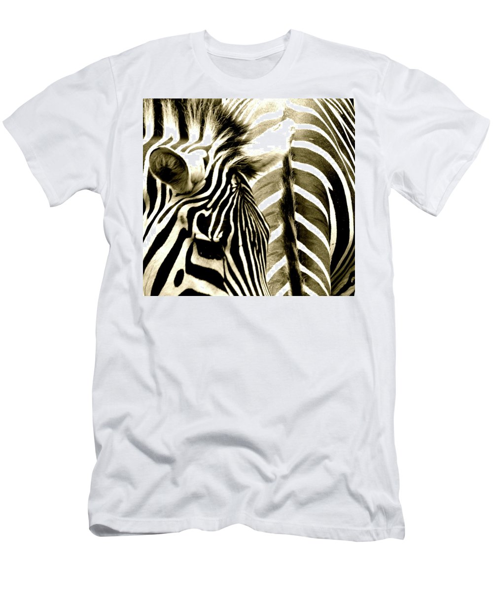 Zebra Men's T-Shirt (Athletic Fit) featuring the photograph Beautiful Zebras by Caroline Reyes-Loughrey