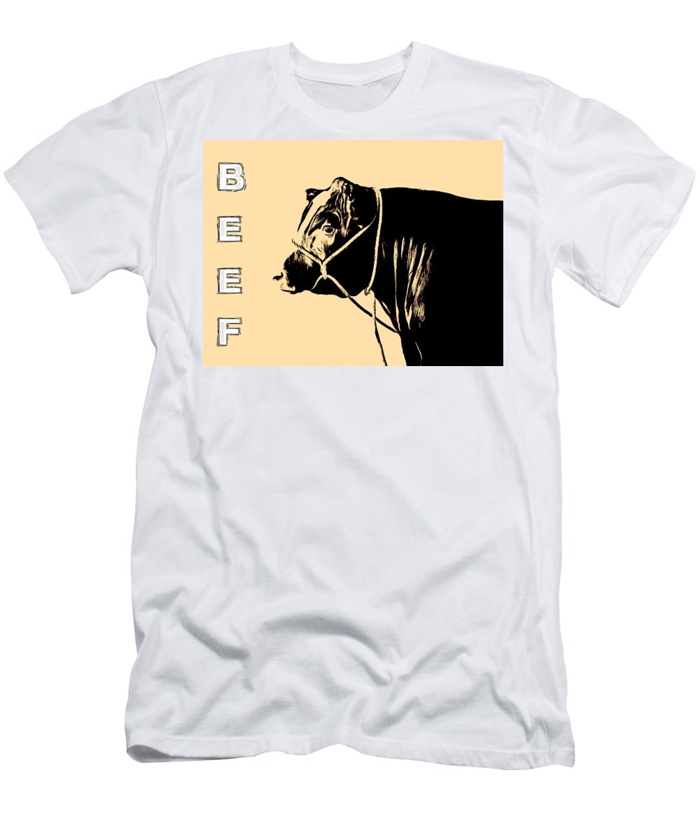 Beef Poster Men's T-Shirt (Athletic Fit) featuring the digital art Beef Poster by Dan Sproul