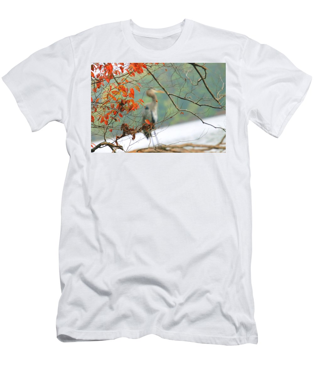 T-Shirt featuring the photograph Behind Fall by Tony Umana
