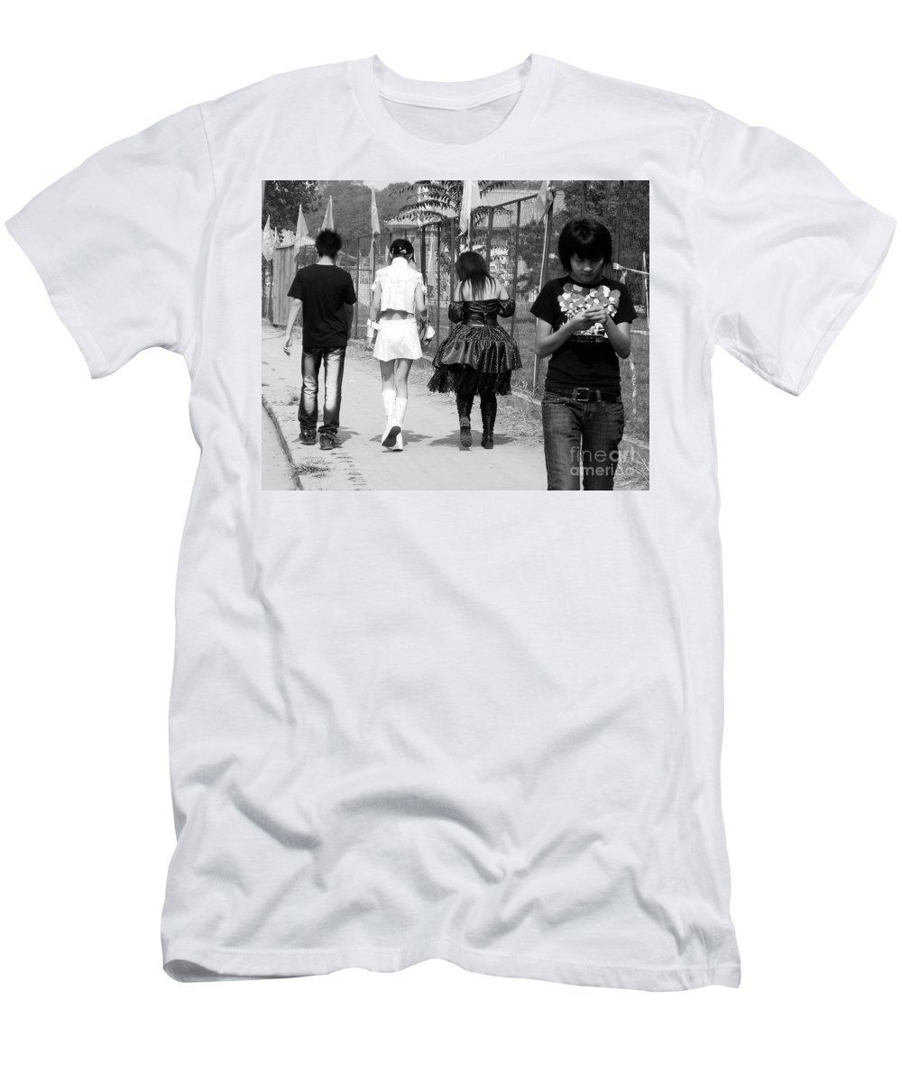 Beijing Men's T-Shirt (Athletic Fit) featuring the photograph Beijing City 13 by Xueling Zou