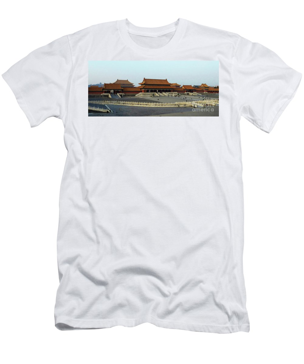 Beijing Men's T-Shirt (Athletic Fit) featuring the photograph Beijing City 28 by Xueling Zou