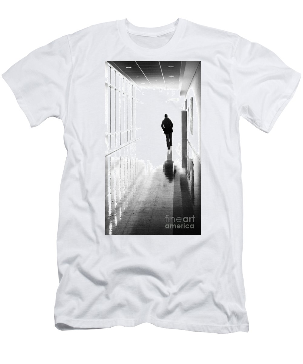 Dipasquale Men's T-Shirt (Athletic Fit) featuring the photograph Being Alone Doesnt Mean Youre Free by Dana DiPasquale
