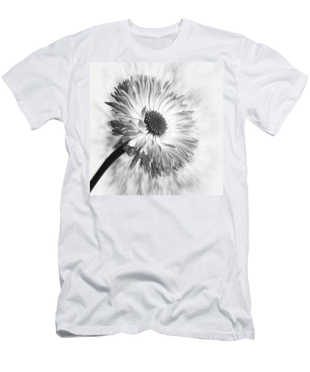 Beautiful T-Shirt featuring the photograph Bellis In Mono  #flower #flowers by John Edwards