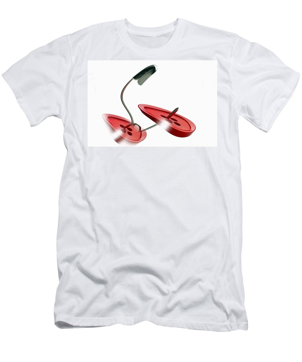 Bent Men's T-Shirt (Athletic Fit) featuring the photograph Bent by Manfred Lutzius