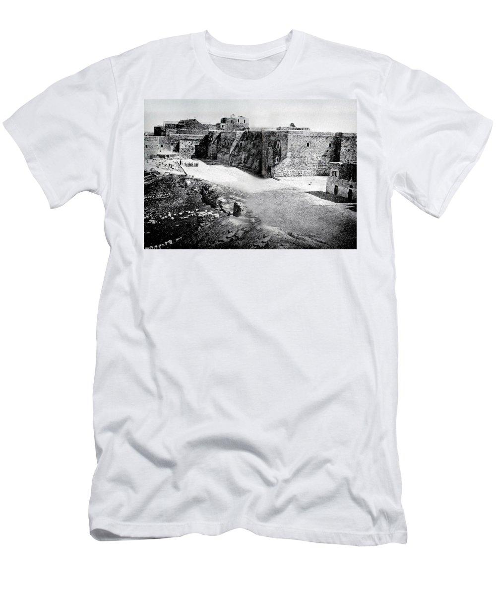 Bethlehem Men's T-Shirt (Athletic Fit) featuring the photograph Bethlehem In 1875 by Munir Alawi