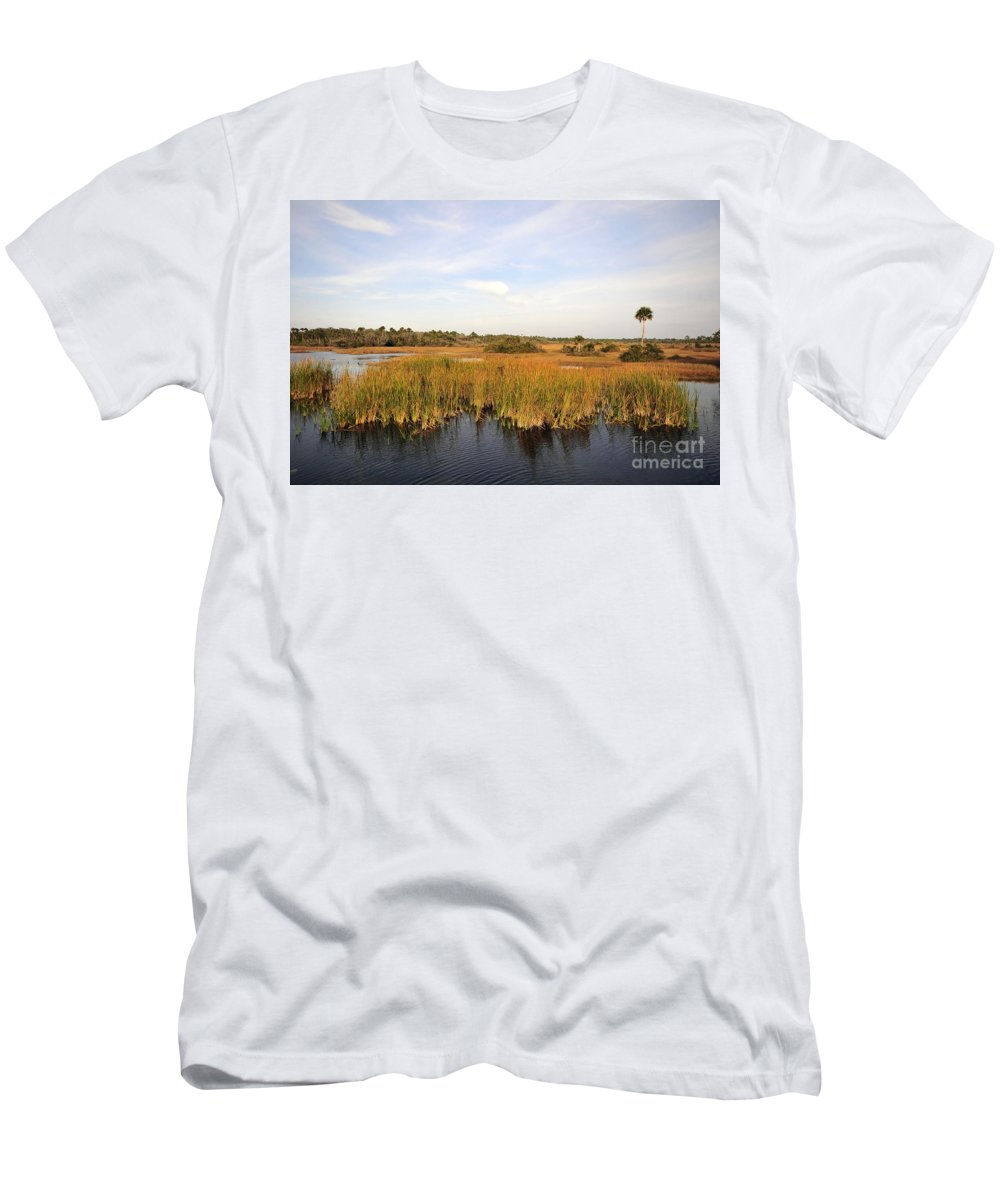Big Cypress National Preserve Florida Men's T-Shirt (Athletic Fit) featuring the photograph Big Cypress Landscape Number Six by David Lee Thompson