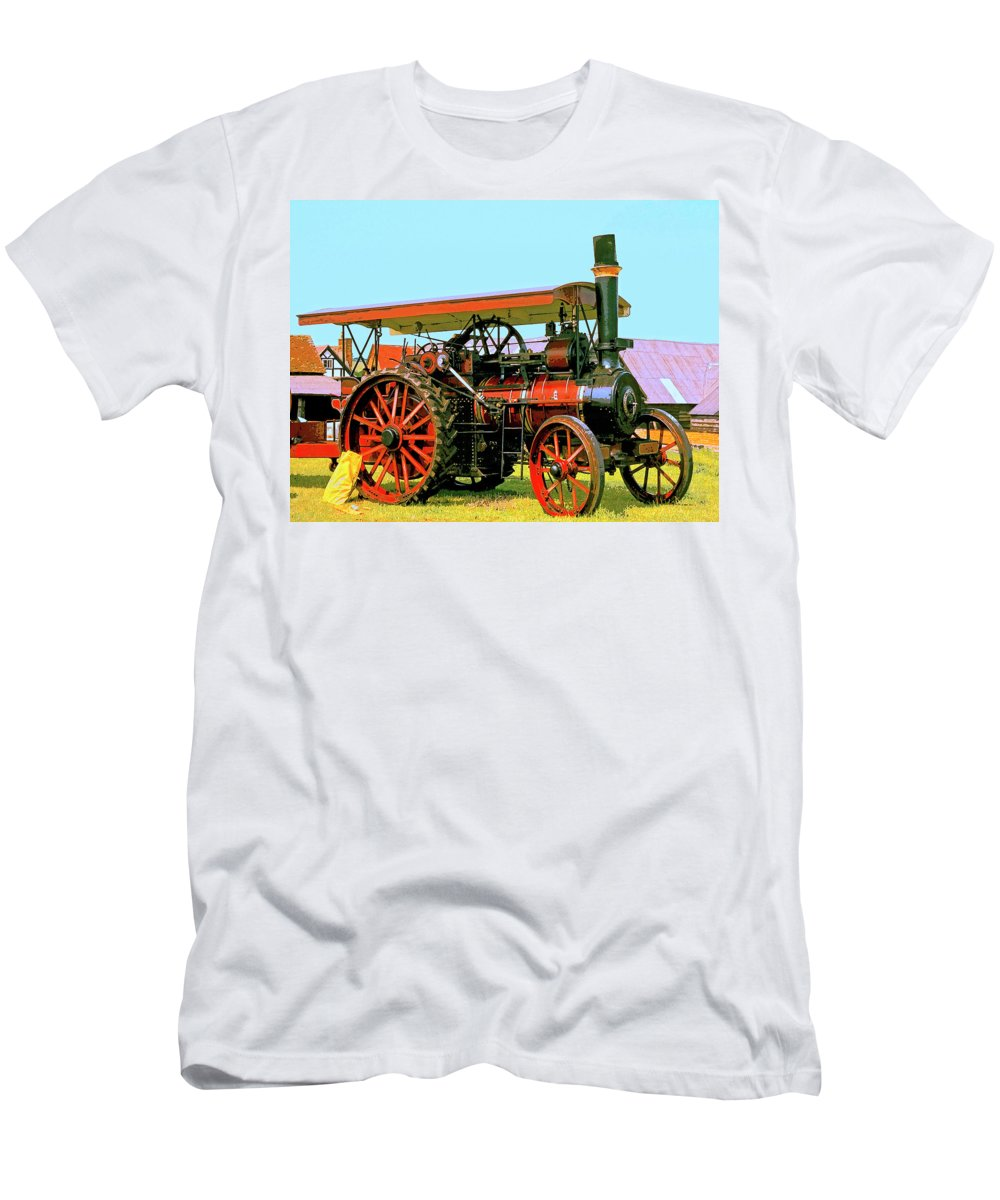 Big Steamer Men's T-Shirt (Athletic Fit) featuring the mixed media Big Steamer by Dominic Piperata