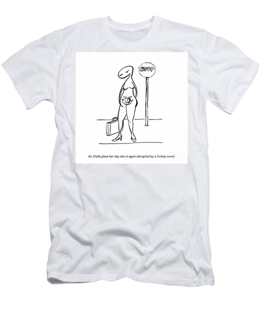 Stella Men's T-Shirt (Athletic Fit) featuring the digital art Biological Clock by Leanne Wilkes