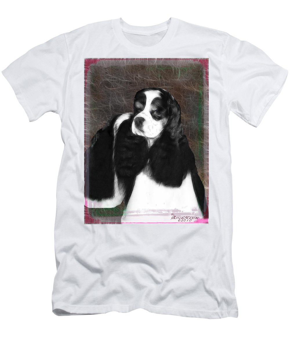 Dog Men's T-Shirt (Athletic Fit) featuring the photograph Black And White Cookie by Ericamaxine Price