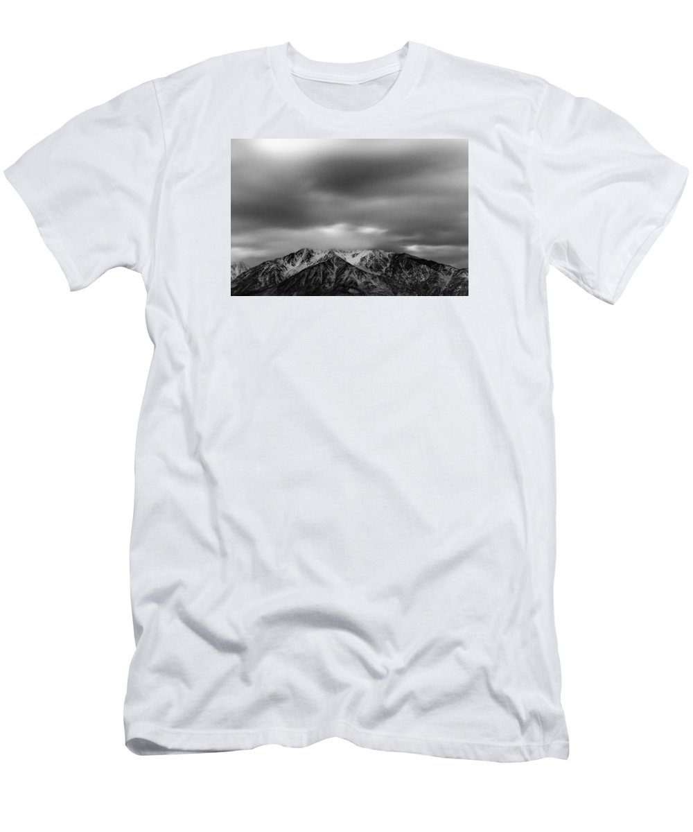 Mountain Men's T-Shirt (Athletic Fit) featuring the photograph Black And White Night by Kevin Beggs