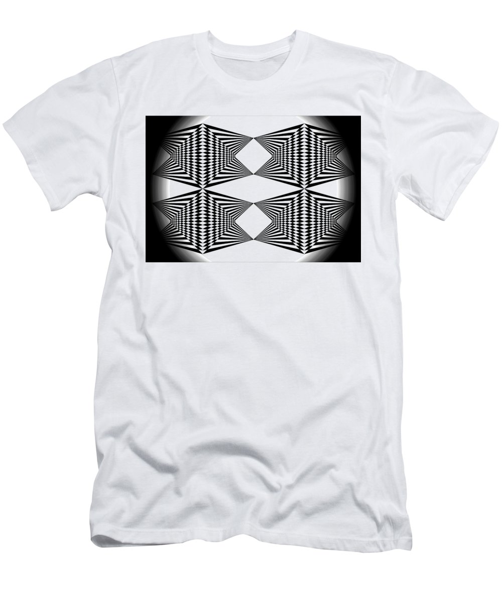 Black T-shirt Men's T-Shirt (Athletic Fit) featuring the digital art Black And White T-shirt by Isam Awad