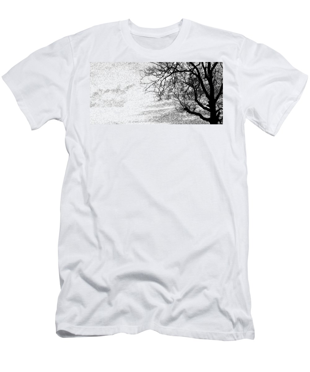 Sky Men's T-Shirt (Athletic Fit) featuring the photograph Black Rain by Ed Smith