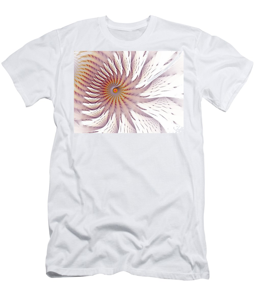 Fractal Men's T-Shirt (Athletic Fit) featuring the digital art Blazing Forest by Amorina Ashton