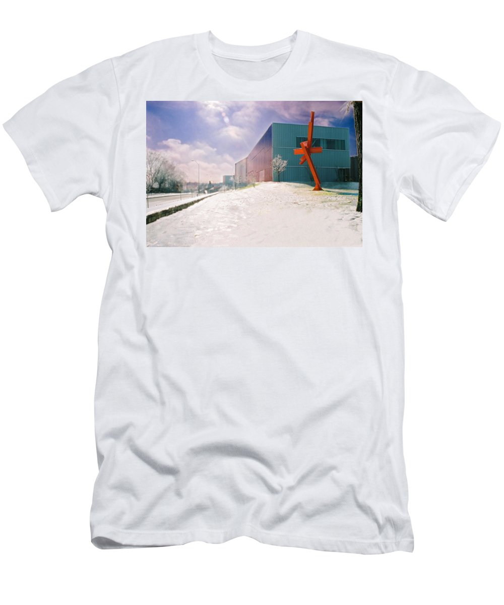 Landscape T-Shirt featuring the photograph Bloch Building at the Nelson Atkins Museum by Steve Karol