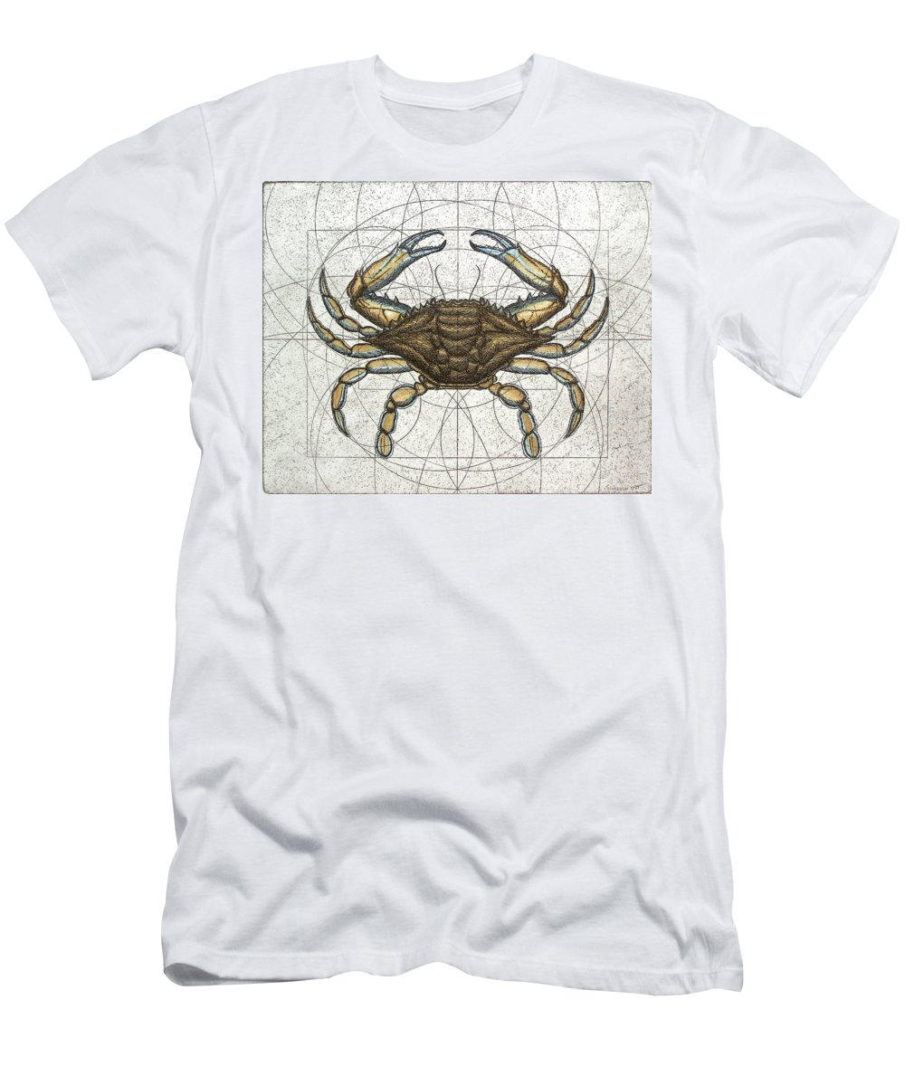 Maryland Men's T-Shirt (Athletic Fit) featuring the painting Blue Crab by Charles Harden