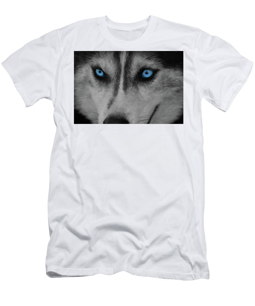 Dog Men's T-Shirt (Athletic Fit) featuring the photograph Blue Eyes by James Young