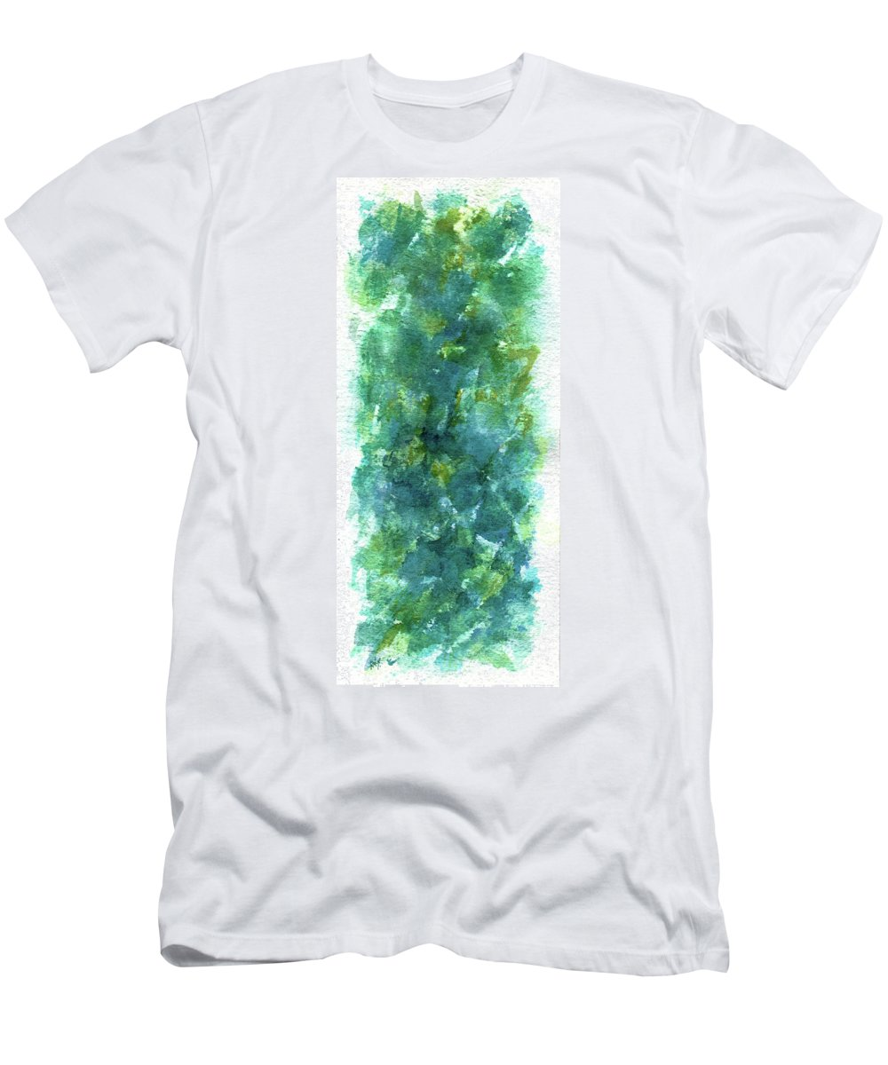 Flower Men's T-Shirt (Athletic Fit) featuring the painting Blue Flower by Rachel Christine Nowicki
