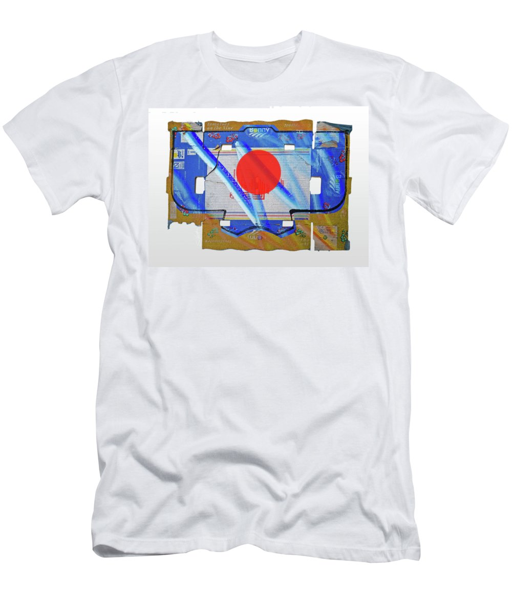 Japanese Men's T-Shirt (Athletic Fit) featuring the painting Blue Kimono by Charles Stuart