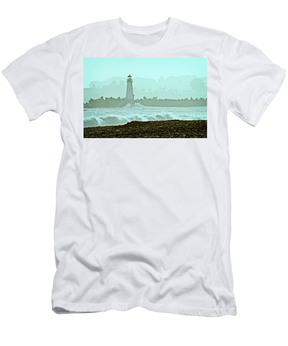 Blue Men's T-Shirt (Athletic Fit) featuring the photograph Blue Mist 2 by Marilyn Hunt