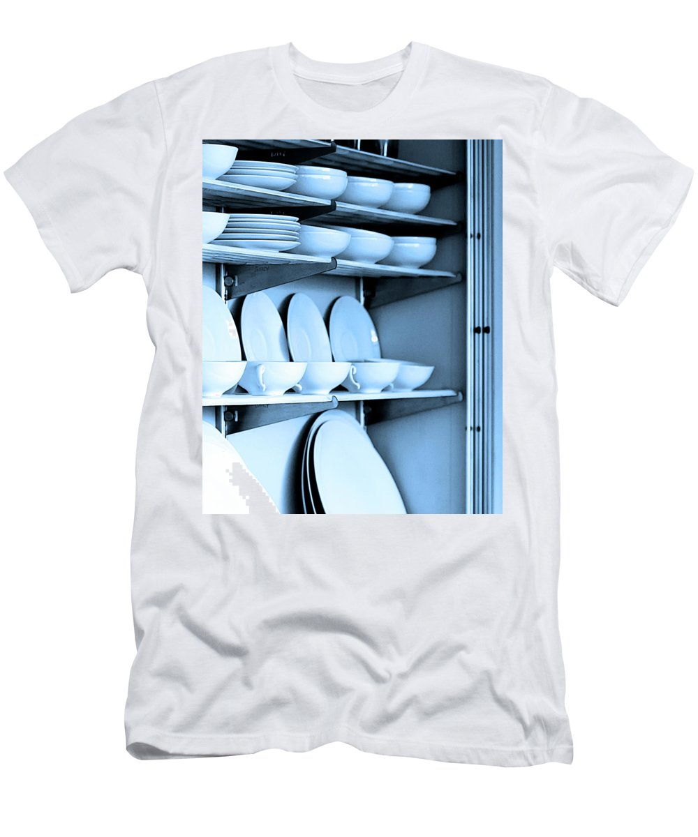 Frey House Men's T-Shirt (Athletic Fit) featuring the photograph Blue Monday by William Dey