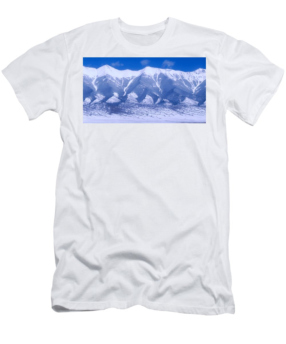 Mountains Men's T-Shirt (Athletic Fit) featuring the photograph Blue Peaks by Jerry McElroy