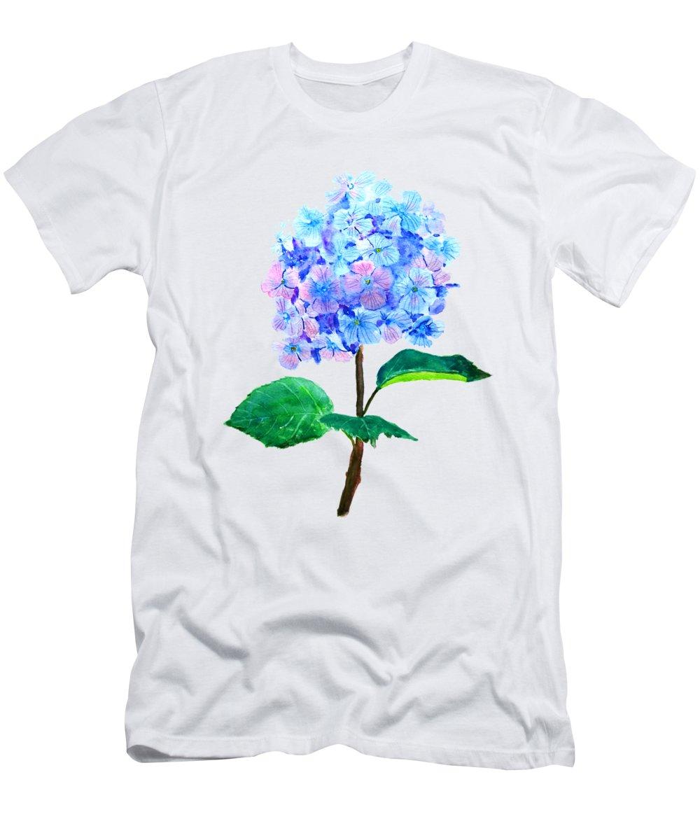 Blue Purple Hydrangea T Shirt For Sale By Color Color
