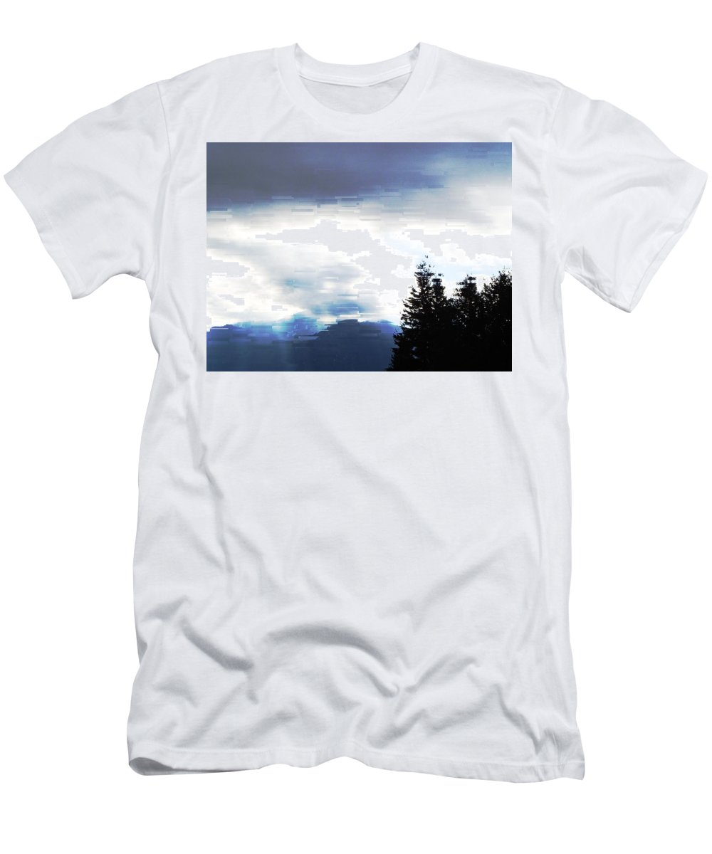 Skies Men's T-Shirt (Athletic Fit) featuring the photograph Blue Skies by Jeff Swan