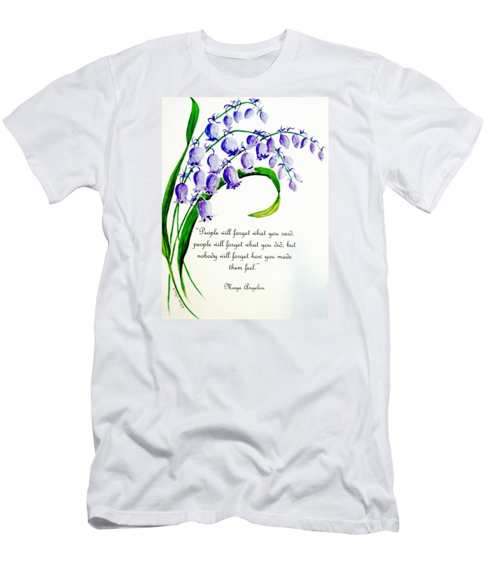 Poems Men's T-Shirt (Athletic Fit) featuring the painting Bluebell by Karin Dawn Kelshall- Best