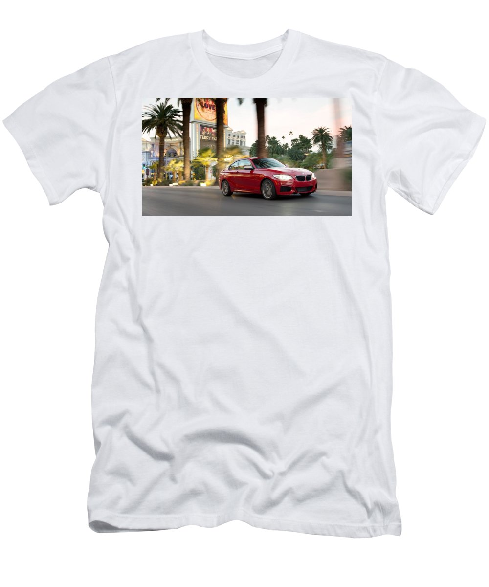 Bmw M235i Coupe Men's T-Shirt (Athletic Fit) featuring the digital art Bmw M235i Coupe by Dorothy Binder
