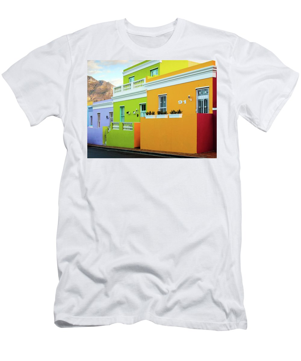 Cape Town Men's T-Shirt (Athletic Fit) featuring the photograph Bo Kaap - 3 by Claudio Maioli