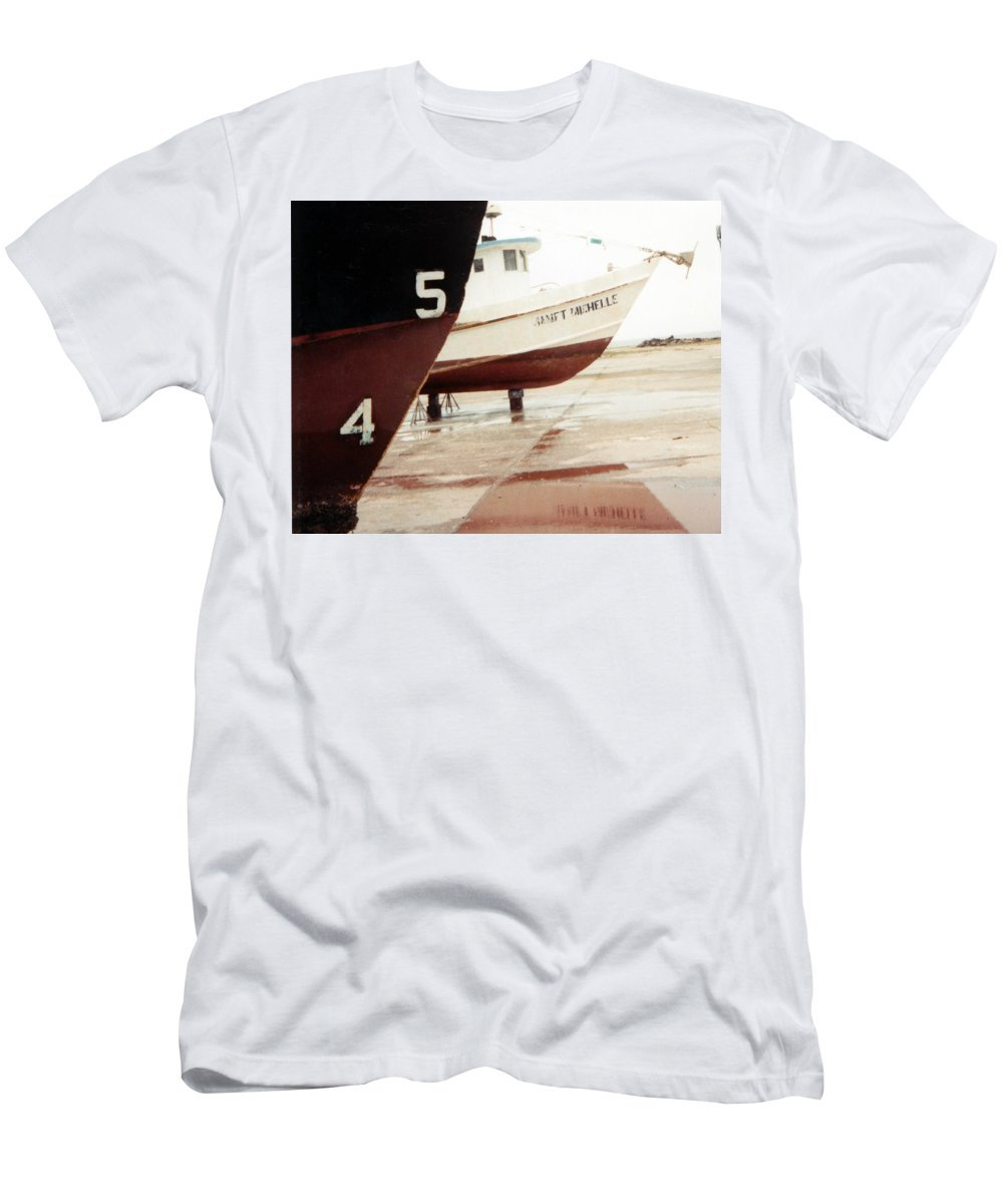 Boat Reflection Men's T-Shirt (Athletic Fit) featuring the photograph Boat Reflection 2 by Cindy New