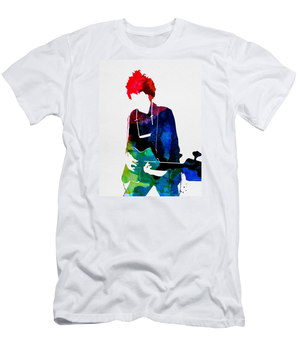 Bob Dylan T-Shirt featuring the painting Bob Watercolor by Naxart Studio
