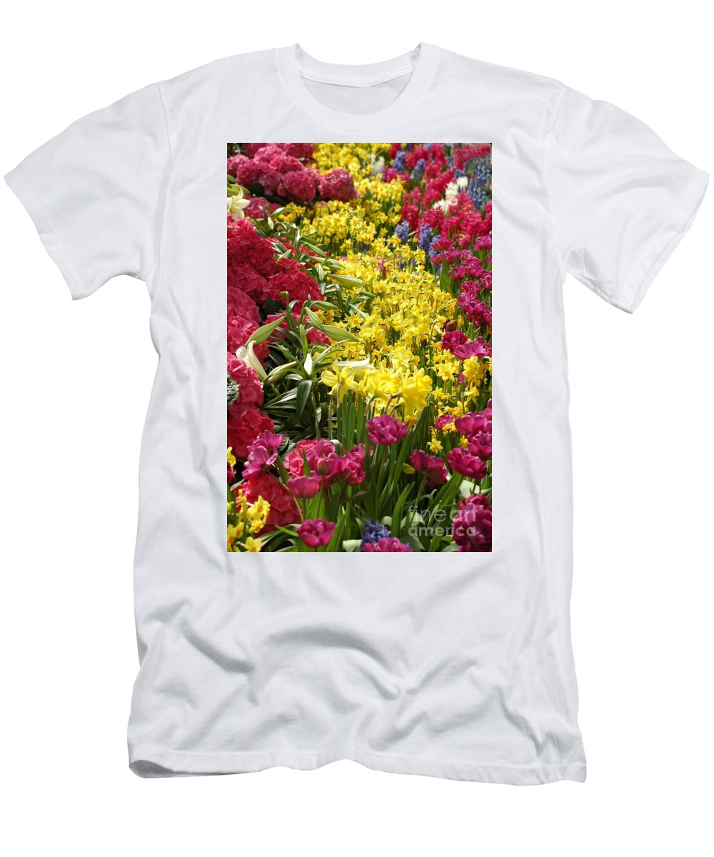 Tulip.yellow Men's T-Shirt (Athletic Fit) featuring the photograph Bold Beauty by Kathleen Struckle