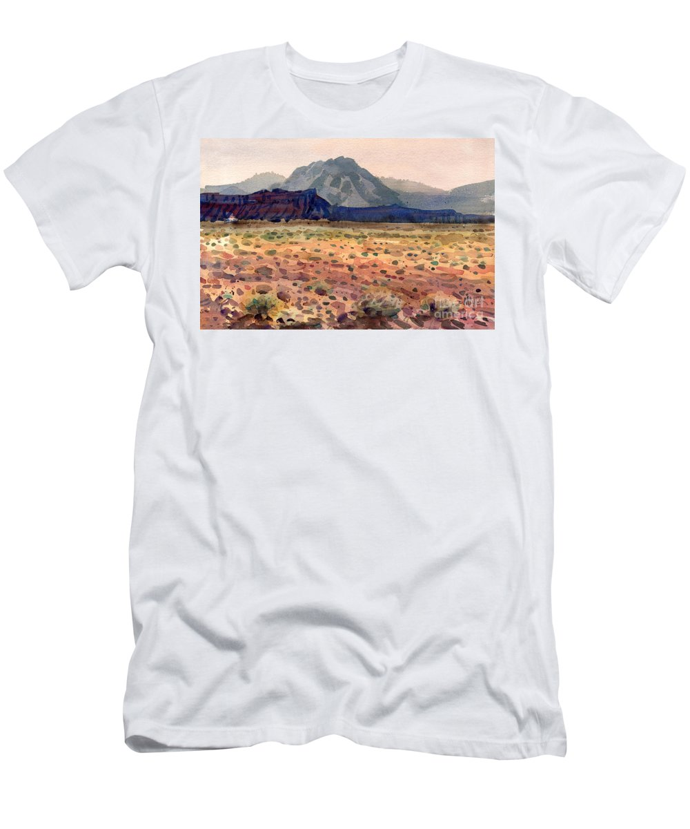 Bookshelf Mesa Men's T-Shirt (Athletic Fit) featuring the painting Bookshelf Mesa by Donald Maier