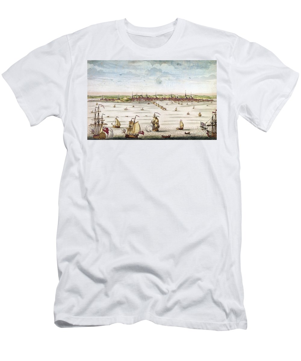 1722 Men's T-Shirt (Athletic Fit) featuring the photograph Boston, 1722 by Granger