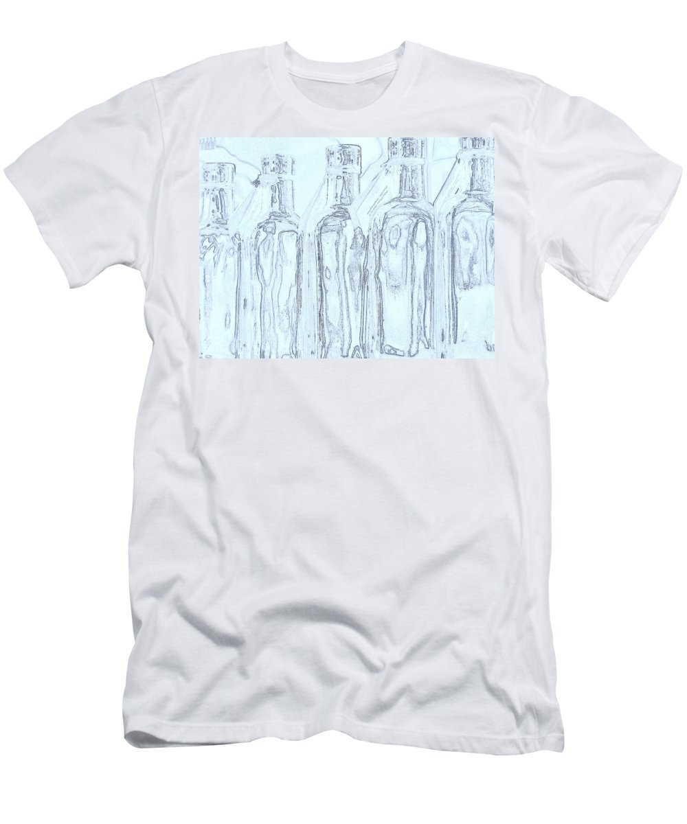 Seattle Men's T-Shirt (Athletic Fit) featuring the photograph Bottles 2 by Tim Allen