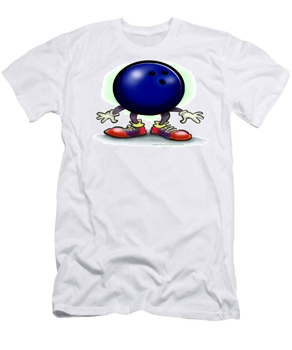 Bowl Men's T-Shirt (Athletic Fit) featuring the greeting card Bowling by Kevin Middleton