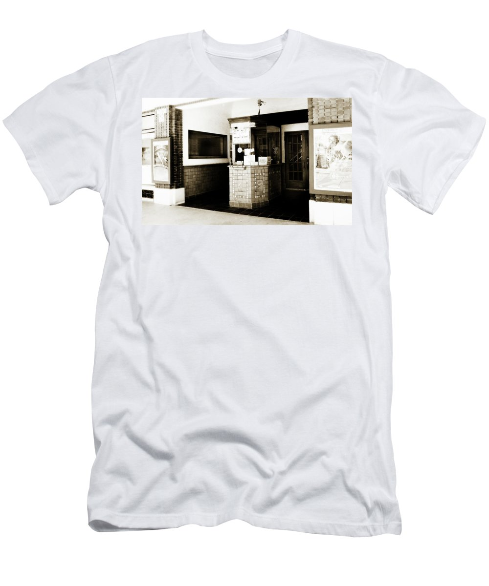 Americana Men's T-Shirt (Athletic Fit) featuring the photograph Box Office 2 by Marilyn Hunt